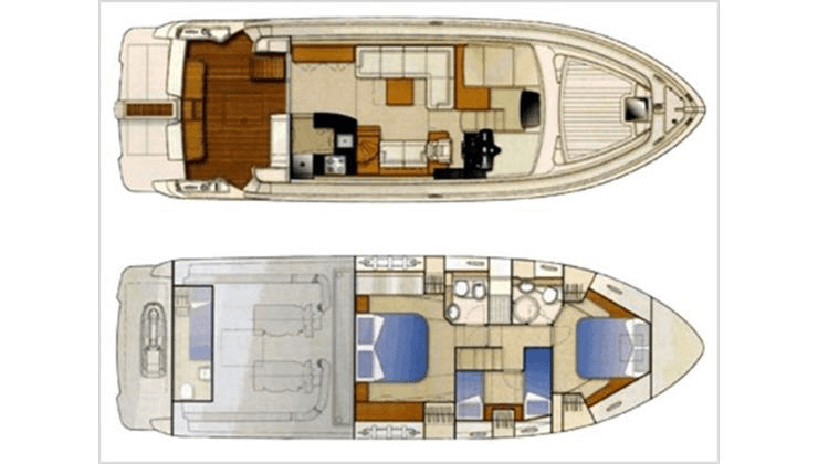 Yacht Ferretti 530 for sale with Roland Marina Malta 01